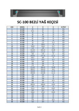 SC-100 BEZLİ YAĞ KEÇESİ