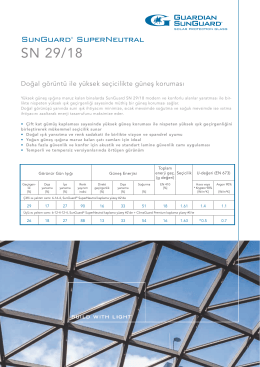 SunGuard SN 29/18 flyer