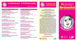 14. Abrahamsfest 14. Hz. lbrahim S¸ enli ˘gi