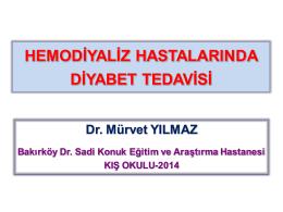Hemodiyaliz hastalarında diyabet tedavisi