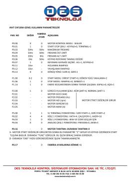 chf100a parametre listesi ve hata kodları (tr)