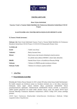 İhaleye davet mektubu - İstanbul Tekstil ve Konfeksiyon İhracatçı
