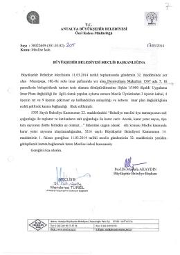 Gündemin 7.Maddesi - Antalya Belediyesi