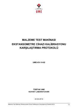 malzeme test makinası ekstansometre cihazı kalibrasyonu