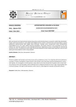 aÖğr. Gör. Dr., Hacettepe Üniversitesi, Hacettepe ASO 1. OSB