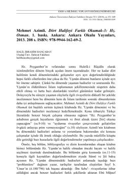 Dört Halifeyi Farklı Okumak-3: Hz. Osman
