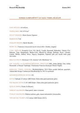 Temel Bilgiler Kongo Cumhuriyeti - Kasım 2014