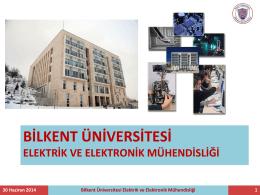 bilkent üniversitesi elektrik ve elektronik mühendisliği
