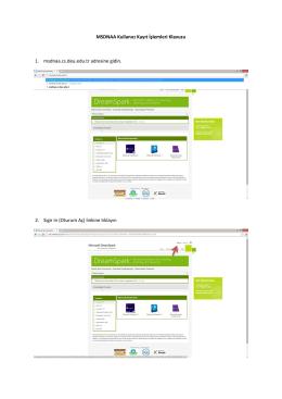 MSDNAA Kullanıcı Kayıt İşlemleri Klavuzu 1. msdnaa.cs.deu.edu.tr