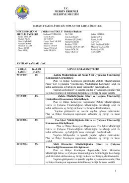 ekim ayı meclis toplantısı kararı