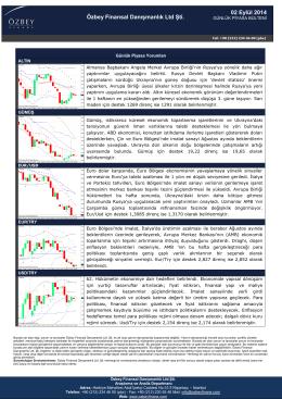 02 Eylül 2014 Özbey Finansal Danışmanlık Ltd Şti.