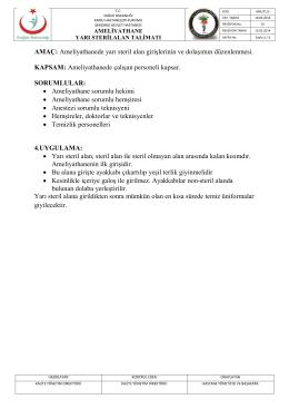 aml -tl3- ameliyathane yarı steril alan talimatı