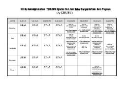 5.sınıf bahar yarıyıl a grubu - Hacettepe Üniversitesi Diş Hekimliği