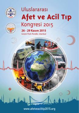 Untitled - Uluslararası Afet ve Acil Tıp Kongresi 2015