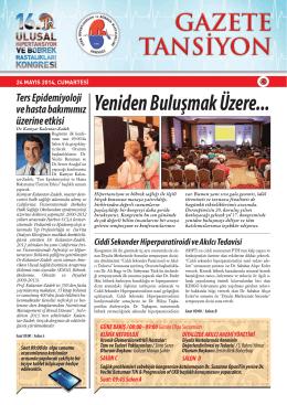 24 Mayıs 2014 - Türk Hipertansiyon ve Böbrek Hastalıkları Derneği
