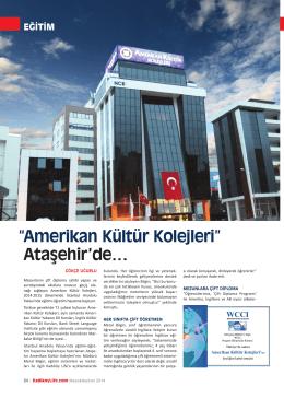 Amerikan Kültür Kolejleri - ataşehir amerikan kültür koleji