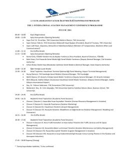 2. uluslararası havacılık işletmeciliği konferansı programı the 2