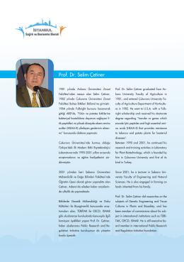 Prof. Dr. Selim Çetiner