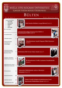 Ocak-Agustos 2014 - İçmeler Turizm Meslek Yüksekokulu