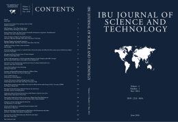 ıbu journal of scıence and technology