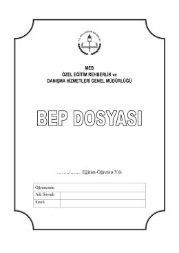 BEP TOPLANTISI - Tepebaşı İlçe Milli Eğitim Müdürlüğü