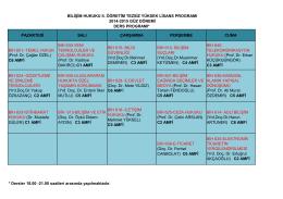(Prof. Dr. Çağlar ÖZEL) C6 AMFİ BİH 630
