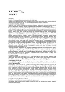 SULTAMAT TABLET - Reçete Rehberi