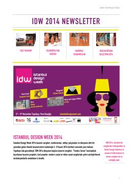 ıdw 2014 newsletter - İstanbul Design Week