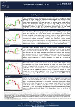 13 Haziran 2014 Özbey Finansal Danışmanlık Ltd Şti.