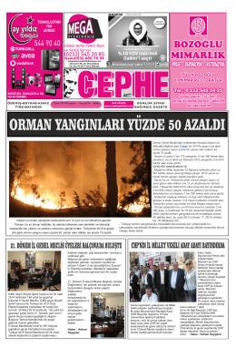 09.10.2014 Tarihli Cephe Gazetesi