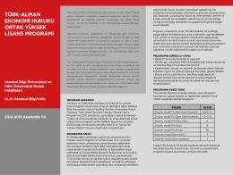 tglaw-Program-Borusu - Türk-Alman Ekonomi Hukuku Ortak Yüksek