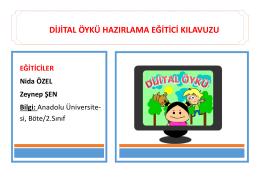 dijital öykü hazırlama eğitici kılavuzu