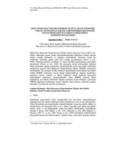 12. Ulusal Ergonomi Kongresi Bildirileri, 2006, Gazi