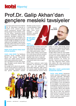 Röportaj - İzmir Katip Çelebi Üniversitesi