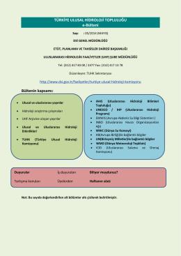 Mayıs 2014 Hidroloji Bülteni - Devlet Su İşleri Genel Müdürlüğü