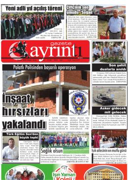 2 eylül 2014 salı - Polatlı Gazete Ayrıntı