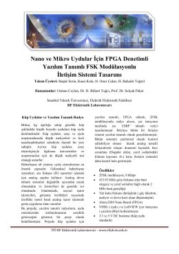 Yazılım Tanımlı Alıcı Katı (FPGA denetimli, FSK