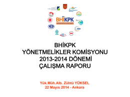 Yönetmelikler Komisyonu 2013