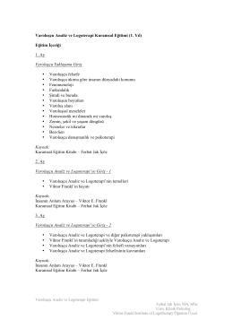 VALT Yr1 Syllabus 2014