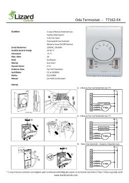 Oda Termostatı - T7162-E4 - Otomasyon Kontrol Market