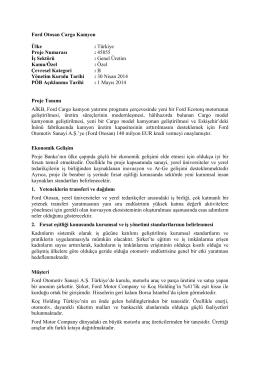 Ford Otosan Cargo Kamyon [EBRD