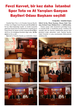 Fevzi Kuvvet, bir kez daha İstanbul Spor Toto ve At