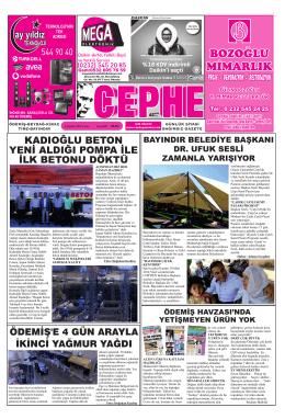 08.08.2014 Tarihli Cephe Gazetesi