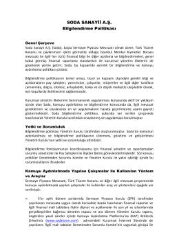 SODA Bilgilendirme Politikası Yeni Şekil WEB