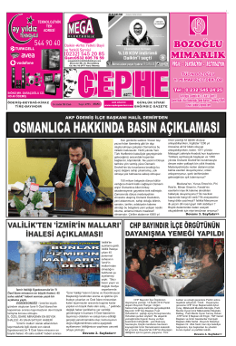 16.12.2014 Tarihli Cephe Gazetesi