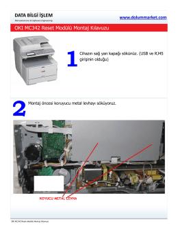 Montaj Kılavuzu - Lexmark Chip,Oki Chip,Toner Chip,Chip Reset