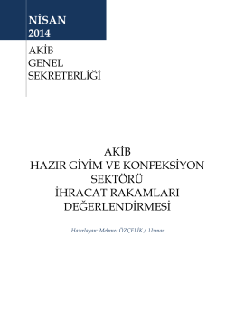 Nisan 2014 - Akdeniz İhracatçı Birlikleri