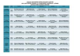 ANKARA ÜNİVERSİTESİ EĞİTİM BİLİMLERİ FAKÜLTESİ 2013
