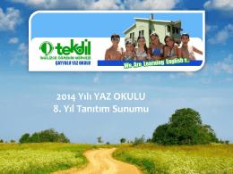 Ankara İngilizce Yaz Okulu Sunumu - Tekdil İngilizce Öğrenim Merkezi