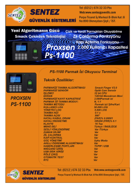 PS-1100 - parmak izi sistemleri